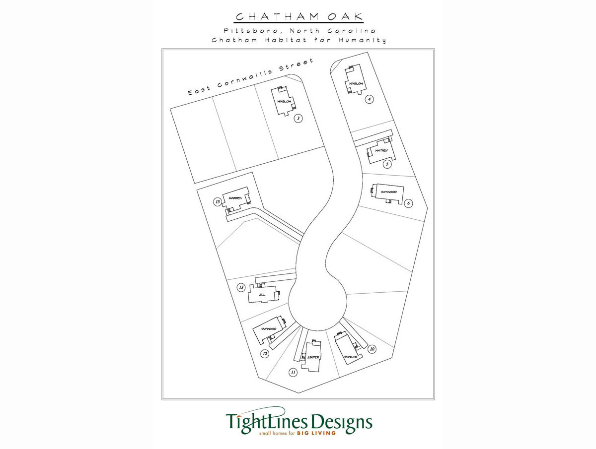 Chatham Oak Site Plan, Pittsboro NC