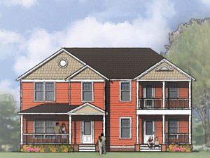 Fayetteville-(Duplex) Front Rendering