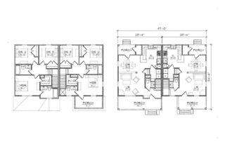 Fayetteville Duplex Floor Plan