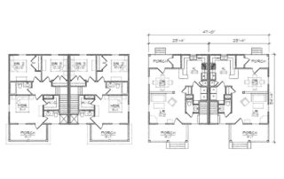 Freeman Duplex Floor Plan