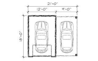 Weaver Garage Floorplan