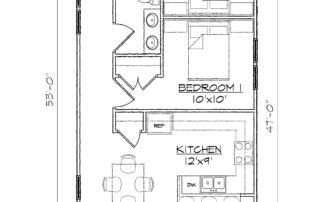 Hamlet 2BR-Floor-Plan