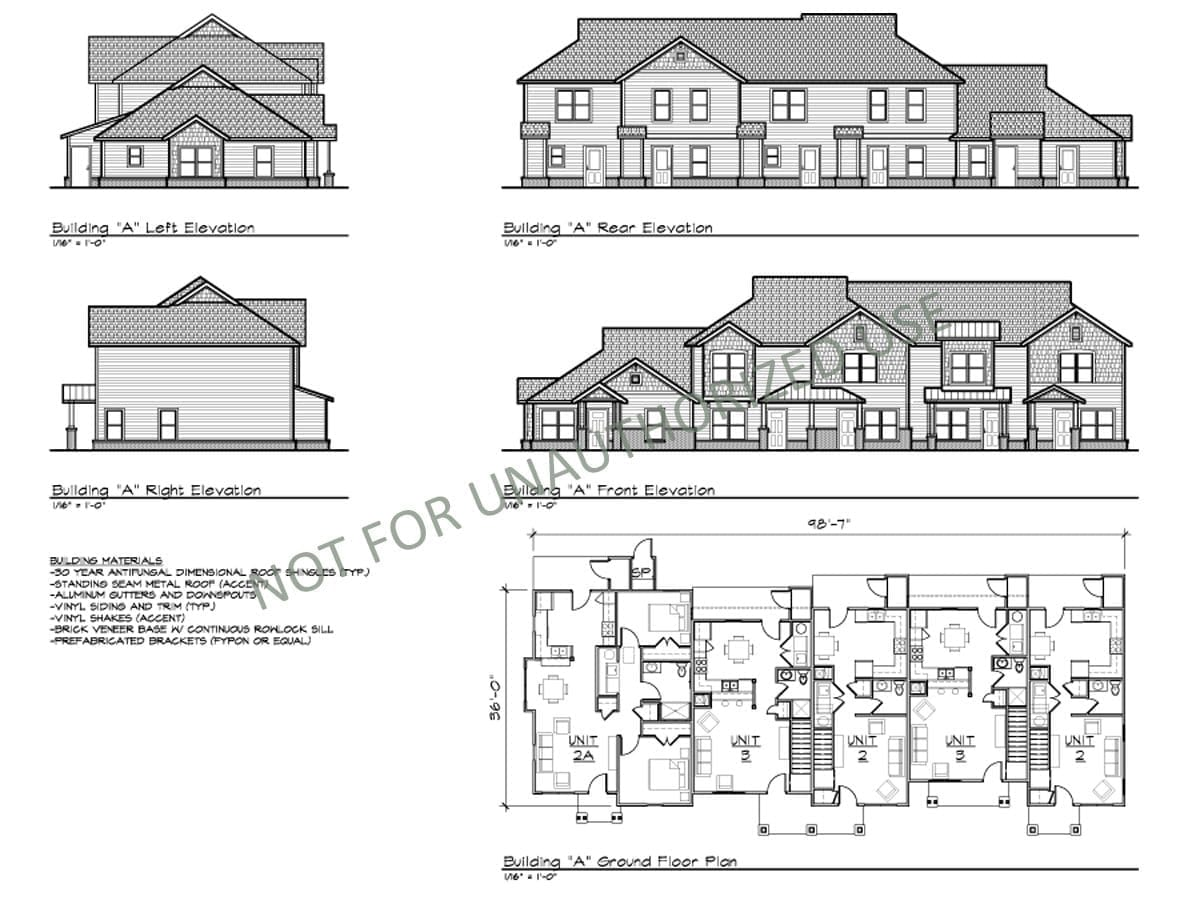 Multi-family Townhomes, Building A