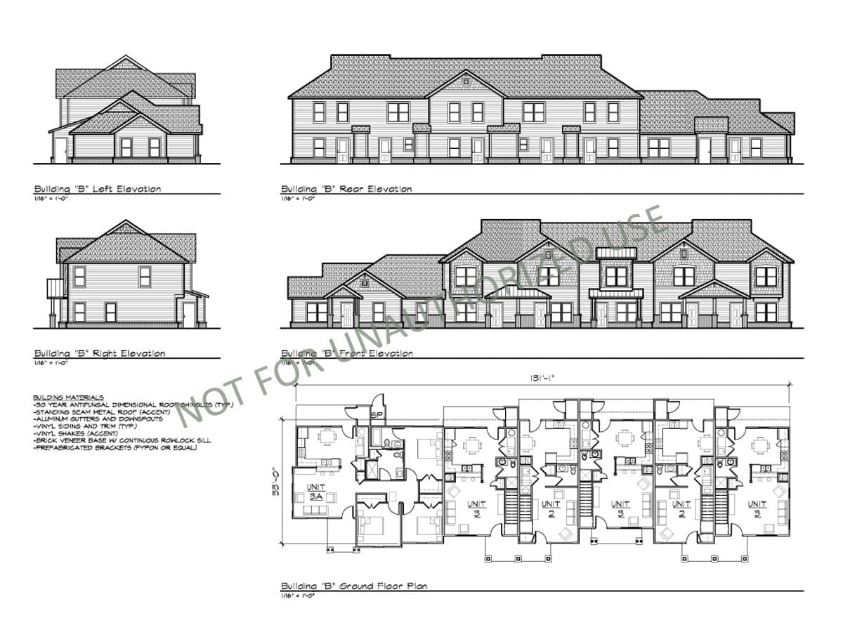 Multi-family Townhomes, Building B