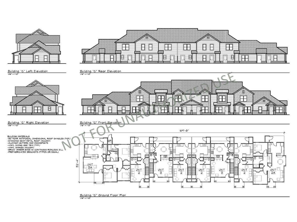 Multi-family Townhomes, Building C