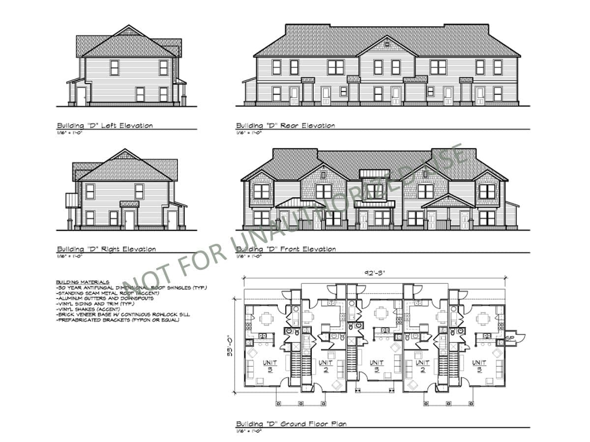 Multi-family Townhomes, Building D