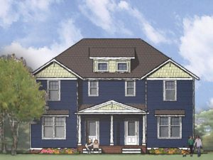 Maple Duplex, Front Rendering