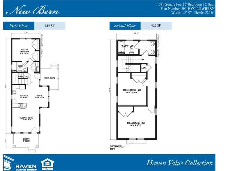 The New Bern Floor Plan - Document compliments of Haven Custom Homes