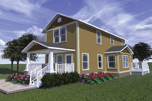 The New Bern - Rendering compliments of Haven Custom Homes