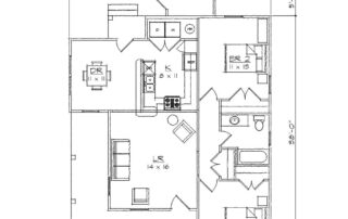 Warren 2 Bedroom Floor Plan