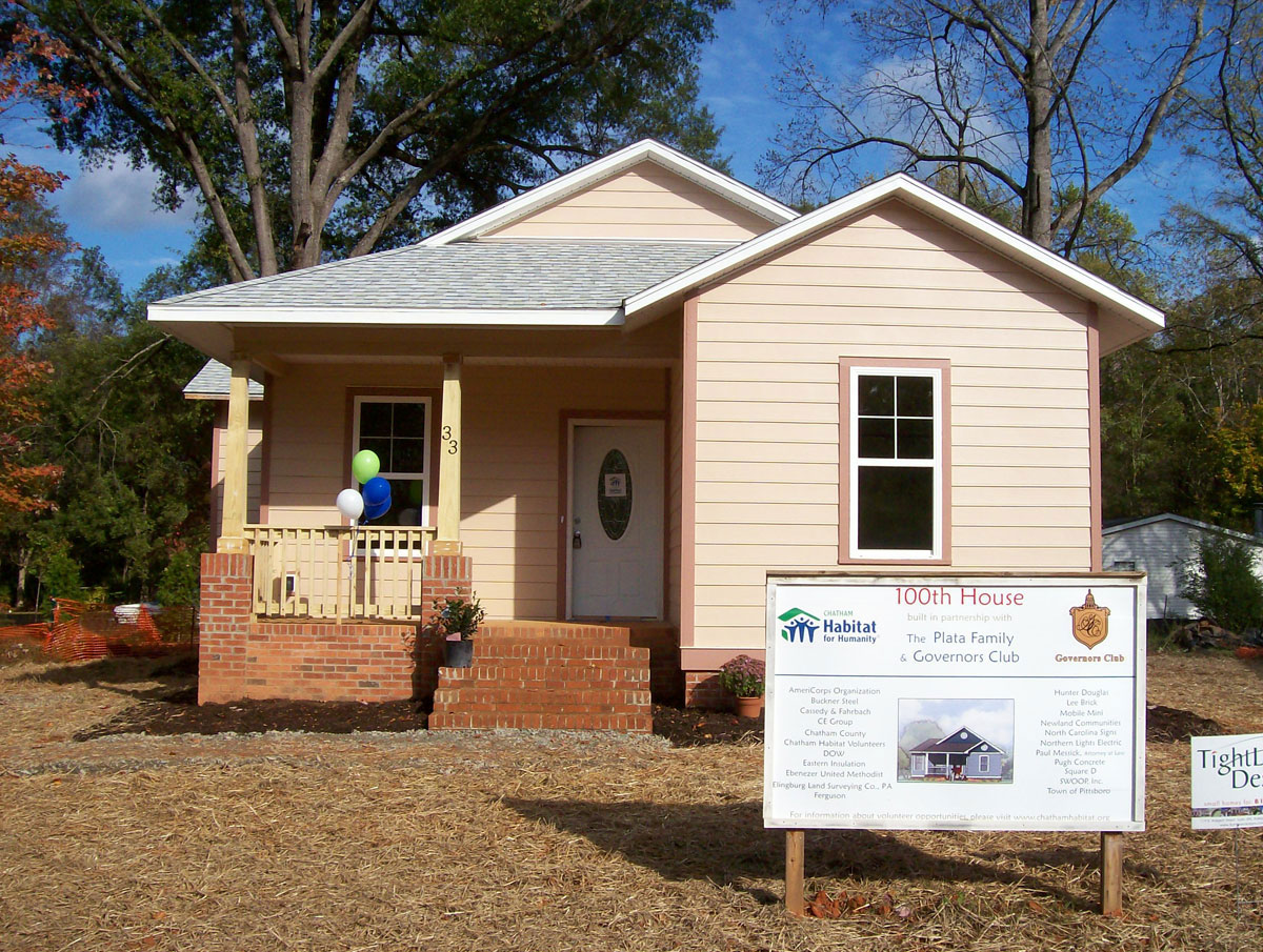 100th Habitat Home, Whitney (modified), Chatham Oak, Pittsboro NC