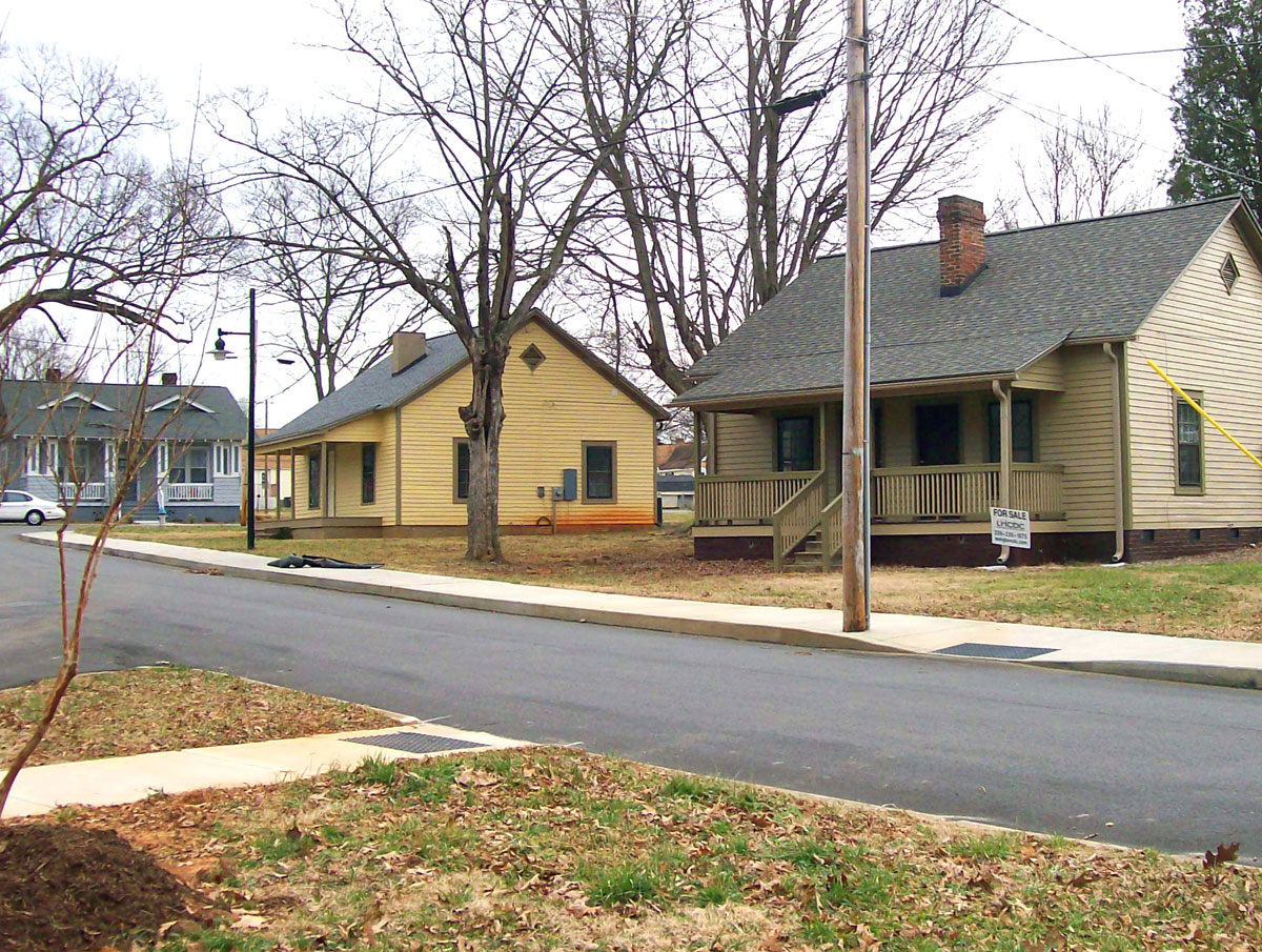 Existing houses in Erlanger Mill Village