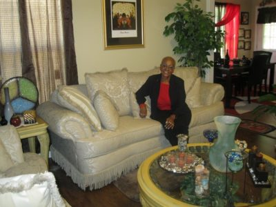 Sandra Bullock at home in the 'Whitney I'